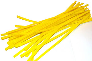 Yellow pipe cleaners chenille craft pipe cleaner 30cm 12 inch uk supplier