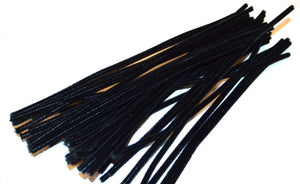 Black pipe cleaners chenille craft pipe cleaner 30cm 12 inch uk supplier