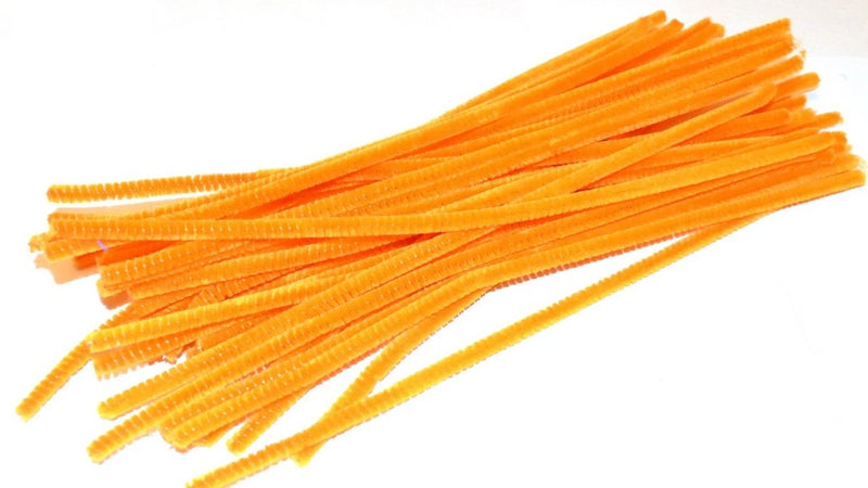 Orange pipe cleaners chenille craft pipe cleaner 30cm 12 inch uk supplier