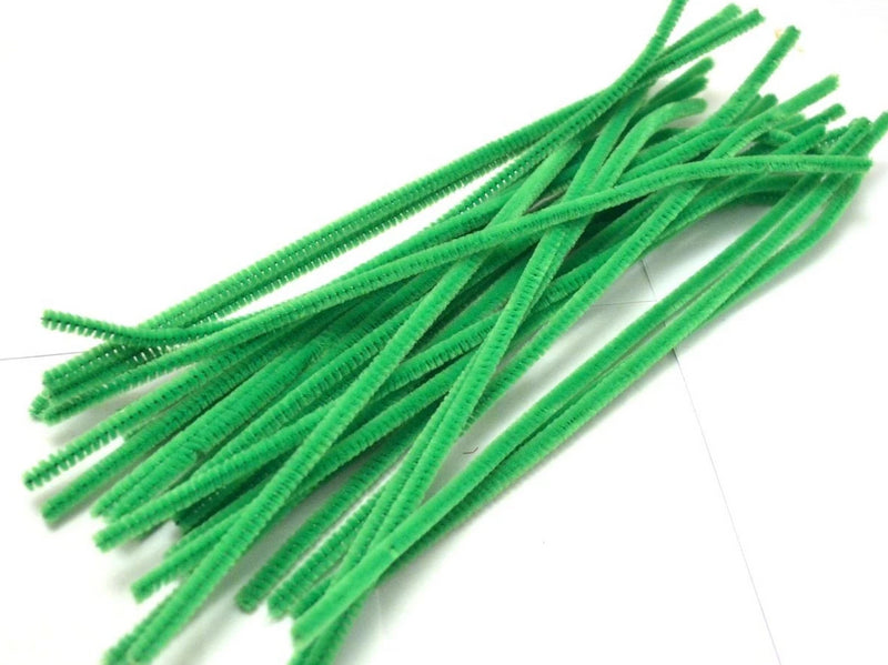 Light Green pipe cleaners chenille craft pipe cleaner 30cm 12 inch uk supplier