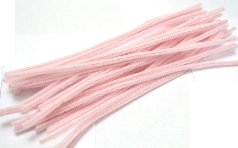Light Pink pipe cleaners chenille craft pipe cleaner 30cm 12 inch uk supplier