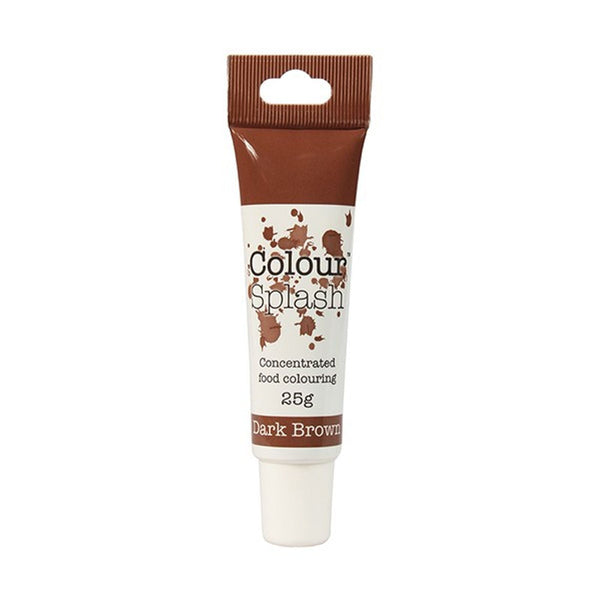 Colour Splash - Concentrated Food Colouring Gel - DARK BROWN - 25g