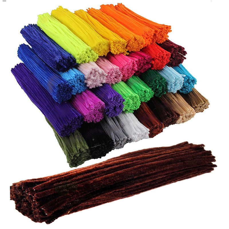 Mixed pipe cleaners chenille craft pipe cleaner 30cm 12 inch uk supplier
