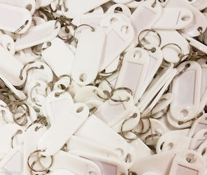 Key Tags with Key Ring   White   Pack of 100 Things4craft UK Craft Companay