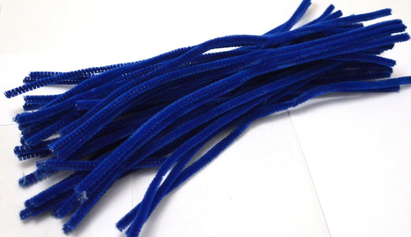 Blue pipe cleaners chenille craft pipe cleaner 30cm 12 inch uk supplier