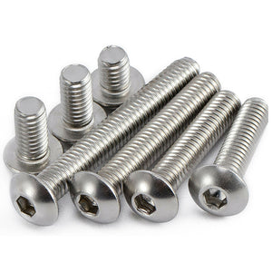Button Head Bolts   Allen Socket   A2 Stainless Steel M6   80mm   Pack of 10 Things4craft UK Craft Companay