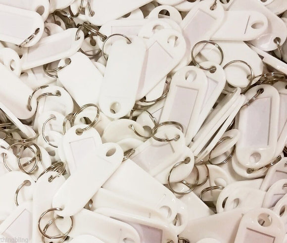 Key Tags with Key Ring   White   Pack of 10 Things4craft UK Craft Companay