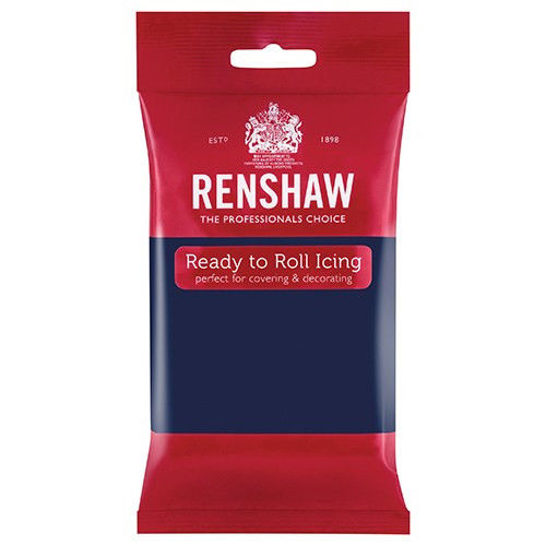 Renshaw Ready to Roll Navy Blue Décor ice sugar paste sugarpaste icings fondants things4craft.co.uk icing