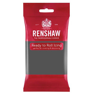 Renshaw Ready to Roll Grey Décor ice sugar paste sugarpaste icings fondants things4craft.co.uk icing