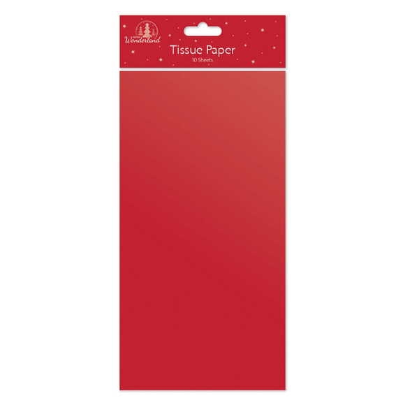Tissue Paper - 10 Sheets Red