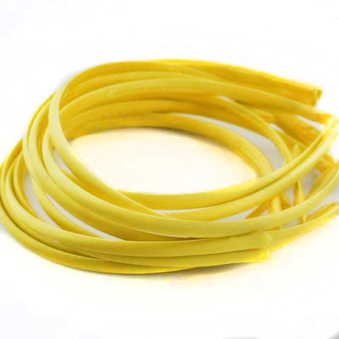 Yellow (#14) Satin Alice Band 10mm - Pack of 10
