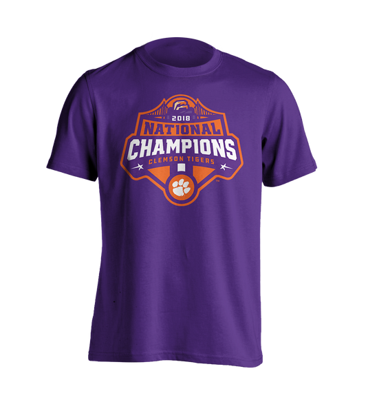 National Championship Logo T-Shirt Purple