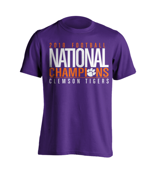 National Championship Bold T-Shirt Purple