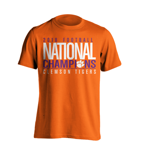National Championship Bold T-Shirt Orange