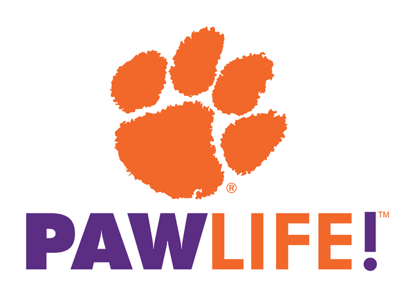 Stacked - Clemson Decal - PAWLIFESTORE