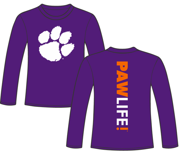 Signature Stripe - Purple Long Sleeve - PAWLIFESTORE