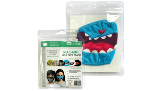 Blue Monster Smile Kids Face Mask