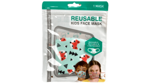 Fox Kids Face Mask