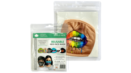 Rainbow Lips Kids Face Mask