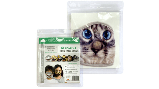 Realistic Cat Kids Face Mask