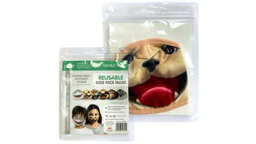 Realistic Dog Kids Face Mask