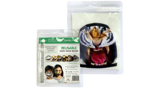 Realistic Tiger Kids Face Mask