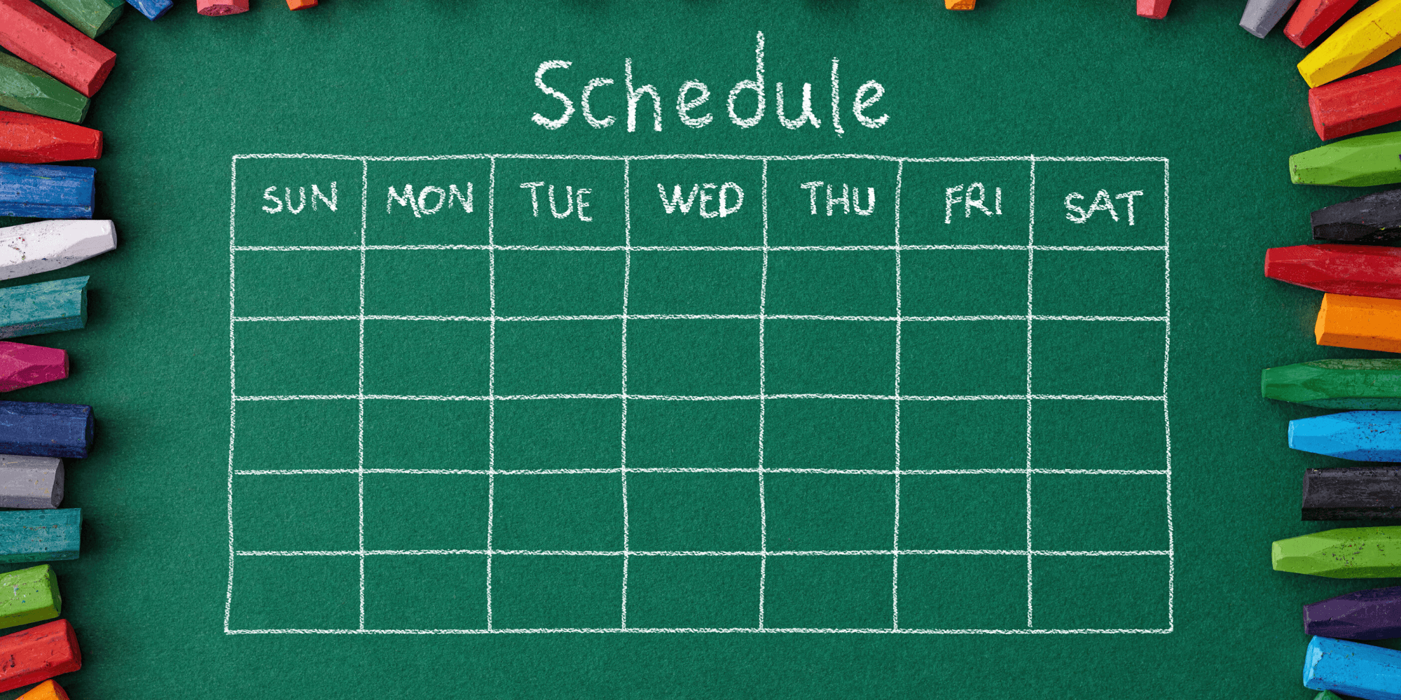 Scheduling on a chalk board