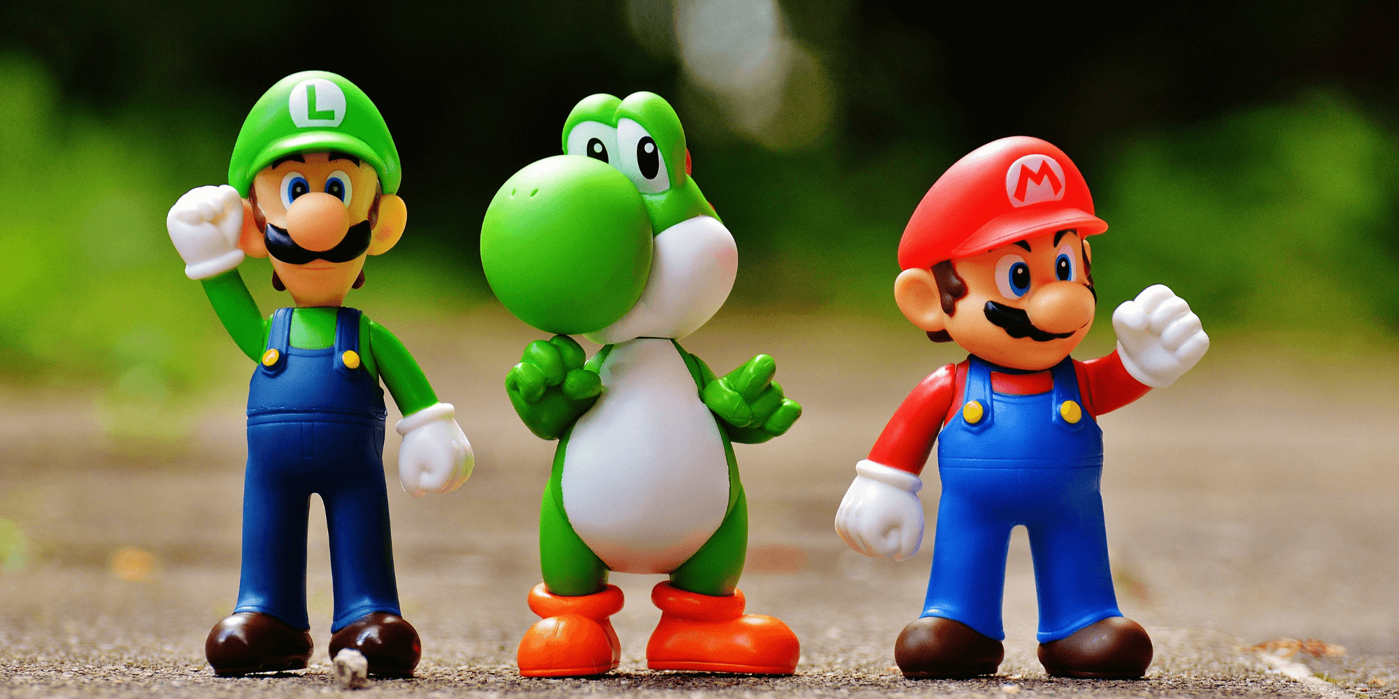 Mario, Luigi and Toad standing up