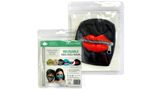 Zip Lips Kids Face Mask