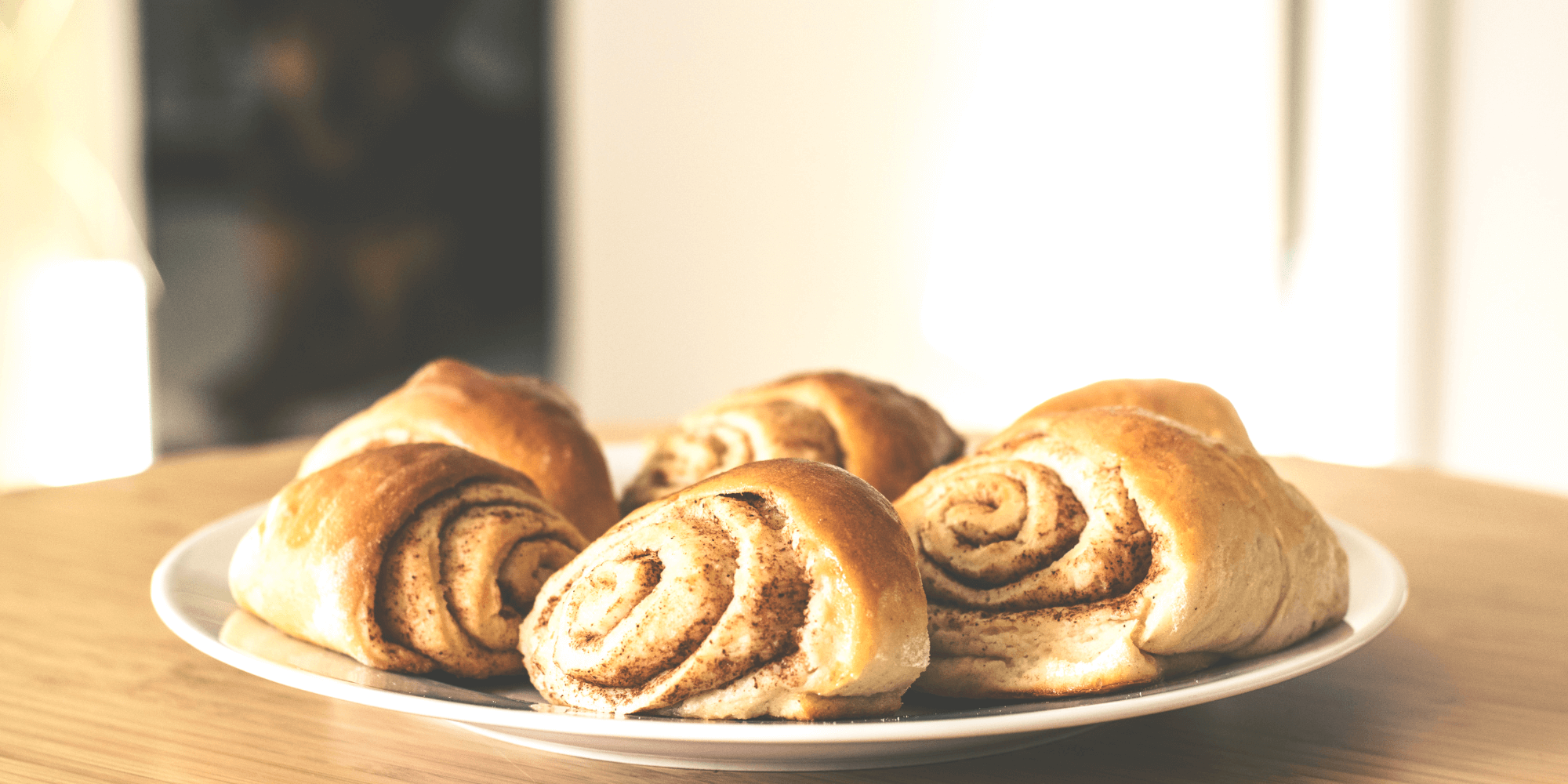 plate of cinnamon swirls