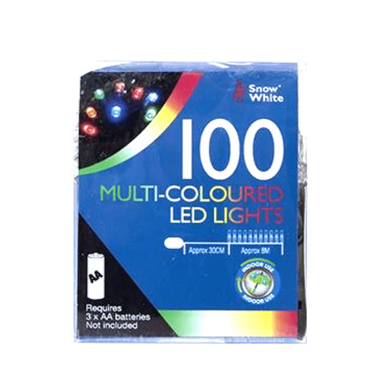 100 MULTI-COLOURED LED CHRISTMAS LIGHTS | Cheap Toys | PoundToy