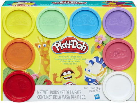 Play-Doh 8 Colours Rainbow Starter Pack in box