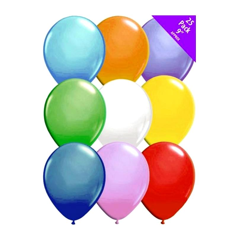 25 PACK OF MIXED COLOURED BALLOONS | Cheap Toys | PoundToy