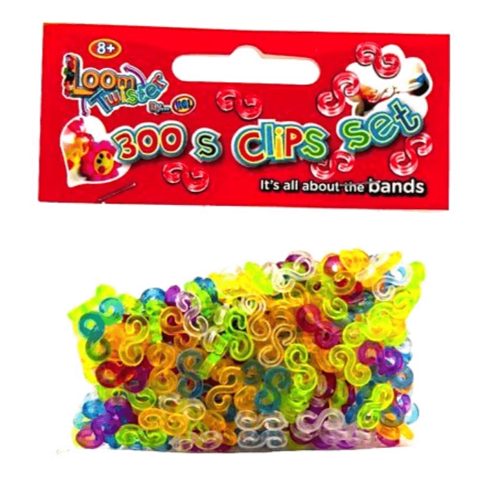 300 PIECE LOOM BAND MULTI COLOURED CLIPS | Cheap Toys | PoundToy