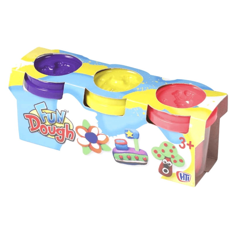3 Fun Dough Pots