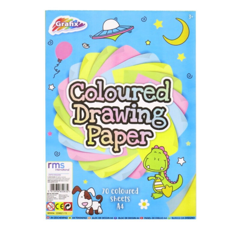 70 COLOURED A4 PAPER SHEETS