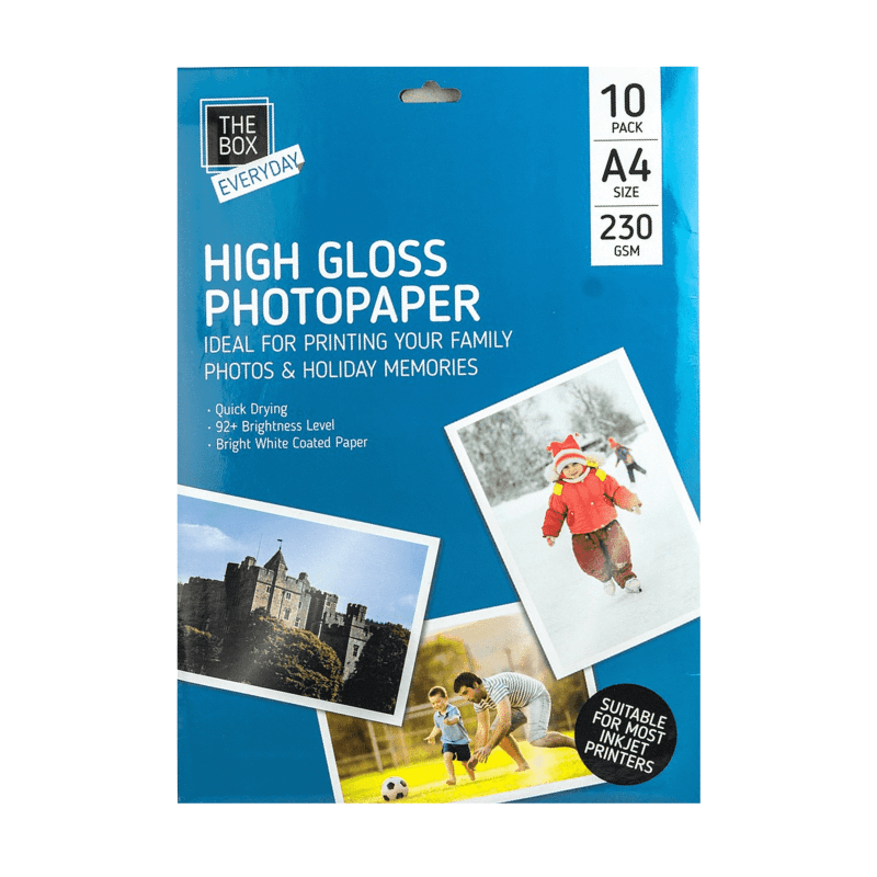 10 A4 High Gloss Photo Paper