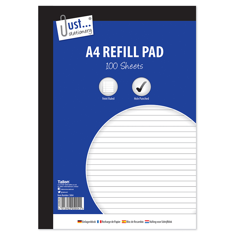 A4 Lined Refill Pad