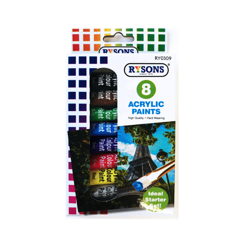 8 ACRYLIC PAINTS | Cheap Toys | PoundToy