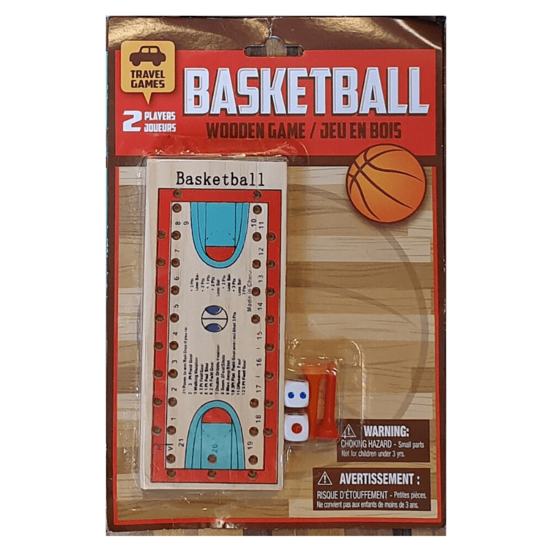 BASKETBALL WOODEN TRAVEL GAME