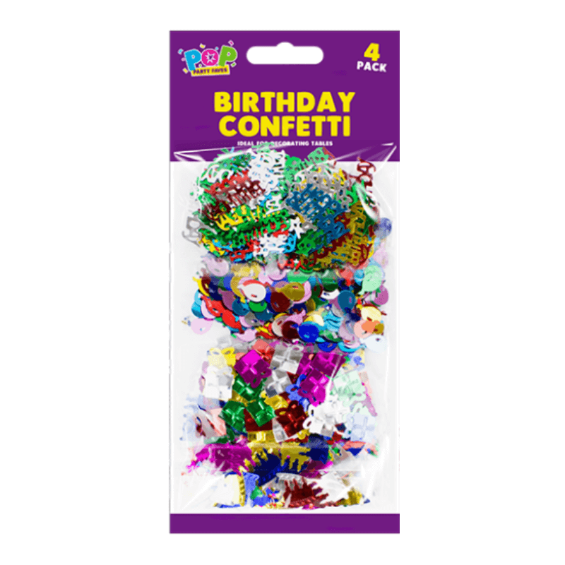 4 PACK OF BIRTHDAY CONFETTI