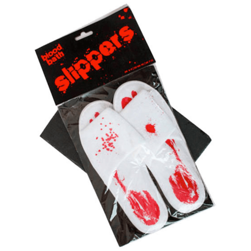 HALLOWEEN BLOOD BATH SLIPPERS SIZE 6 - 11