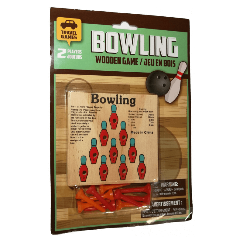 BOWLING WOODEN TRAVEL GAME