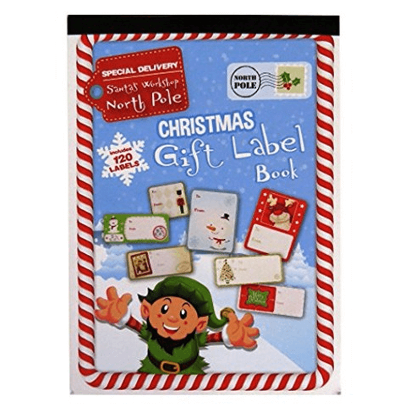 CHRISTMAS GIFT LABEL BOOK | Cheap Toys | PoundToy