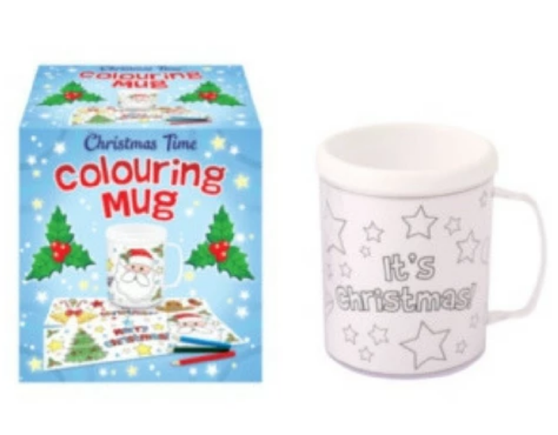 CHRISTMAS TIME COLOURING MUG | Cheap Toys | PoundToy