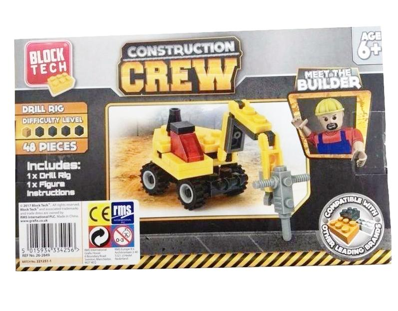 BLOCK TECH CONSTRUCTION CREW DRILL RIG | Cheap Toys | PoundToy