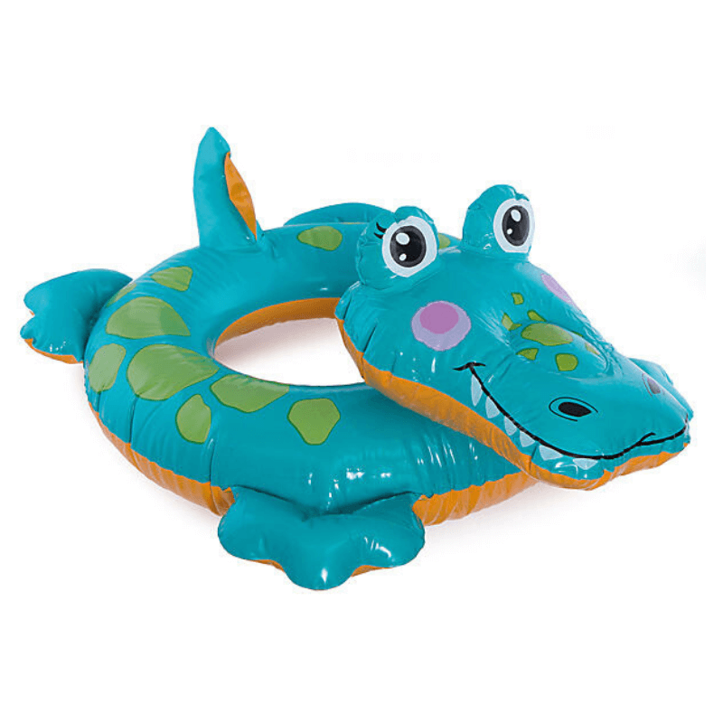 Crocodile Swim Ring Pool Float