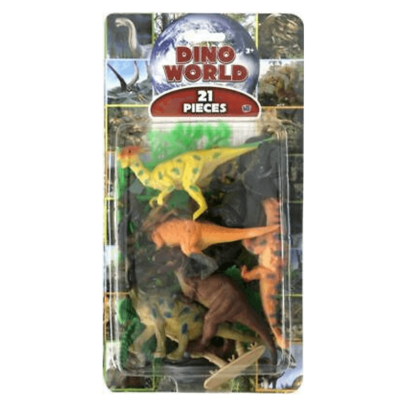 Dino World 21 Piece Dinosaur Figure Set