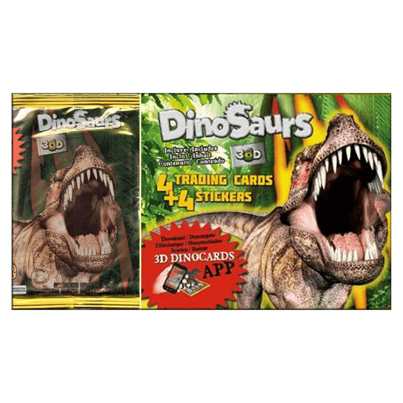 DINOSAUR STICKERS + CARDS BLIND BAG | Cheap Toys | PoundToy