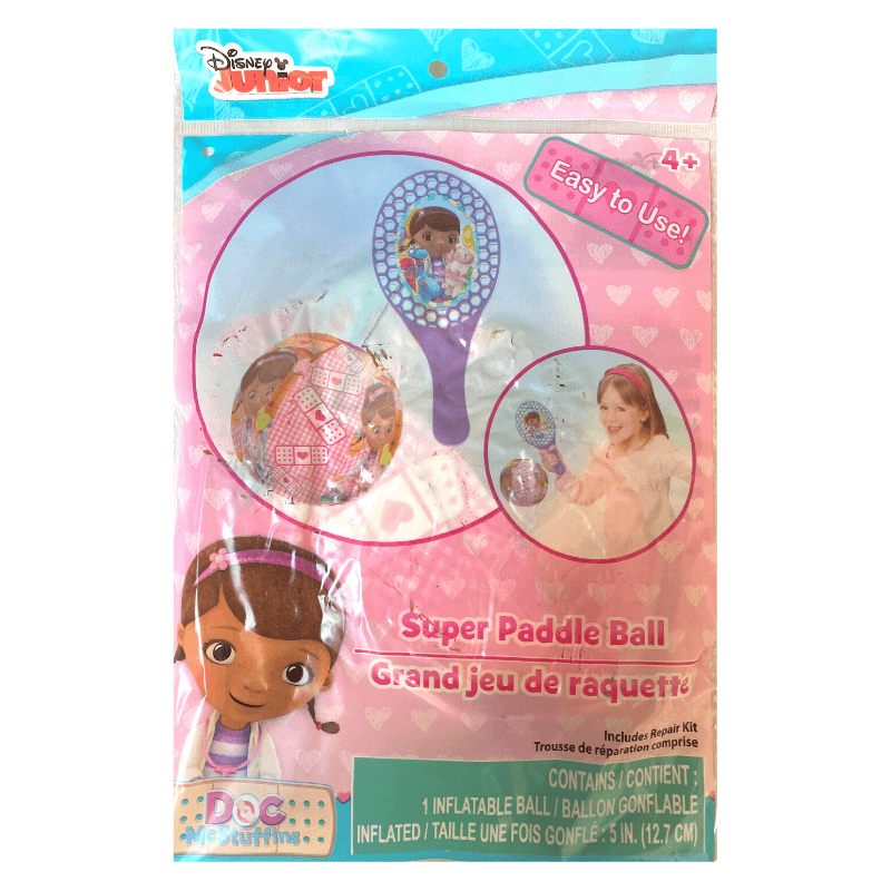 DOC MCSTUFFINS SUPER PADDLE BALL